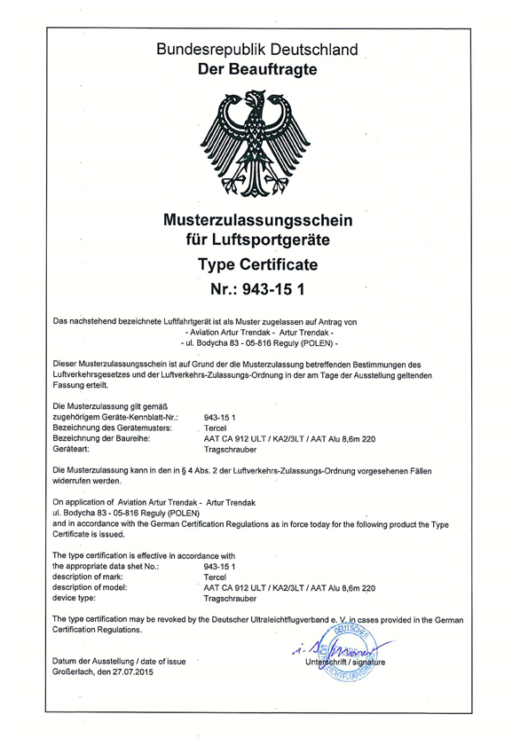 Certification allemande